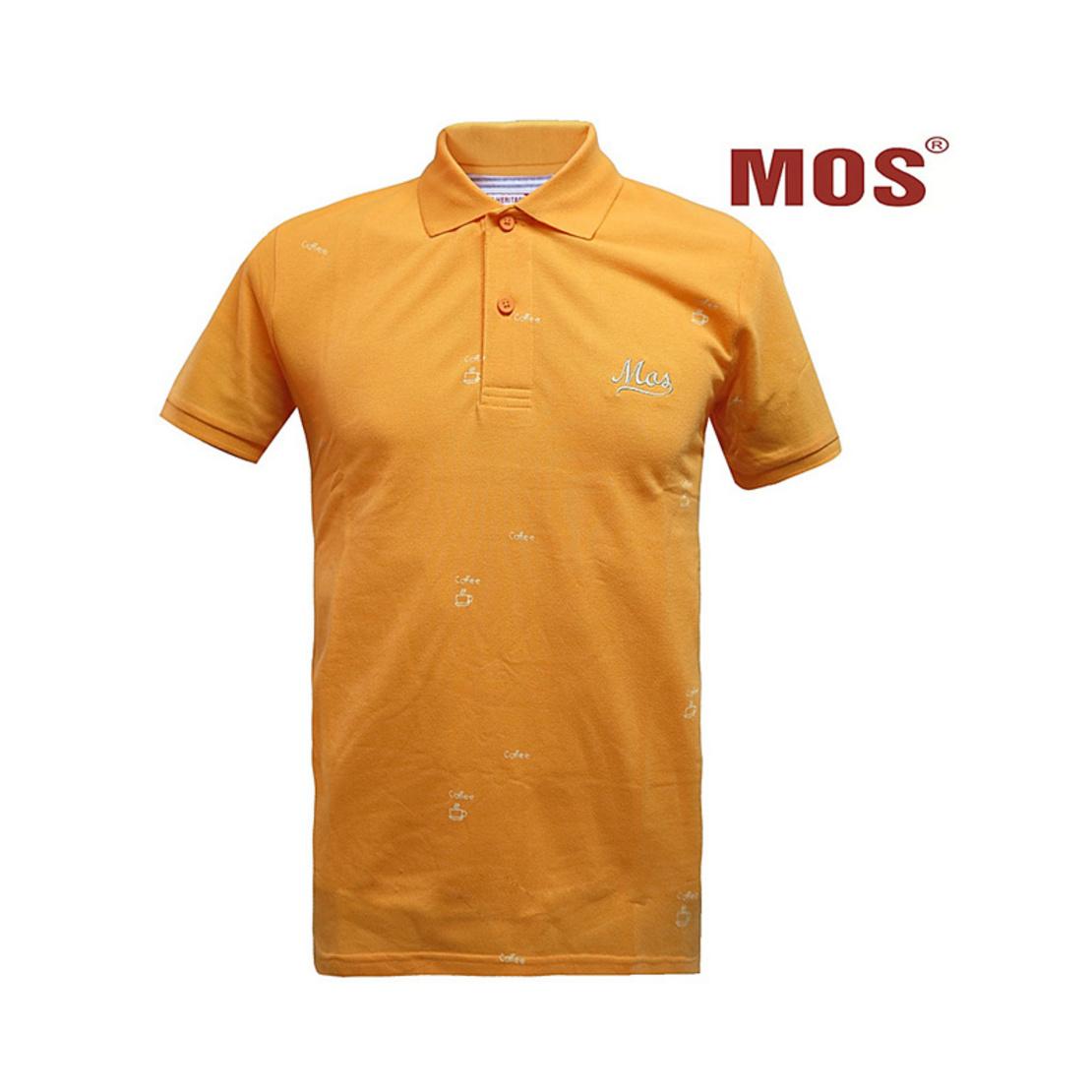 MOS HERITAGE POLO T-SHIRT เสื้อโปโลชาย รุ่น MMB-0226 (เหลืองส้ม)