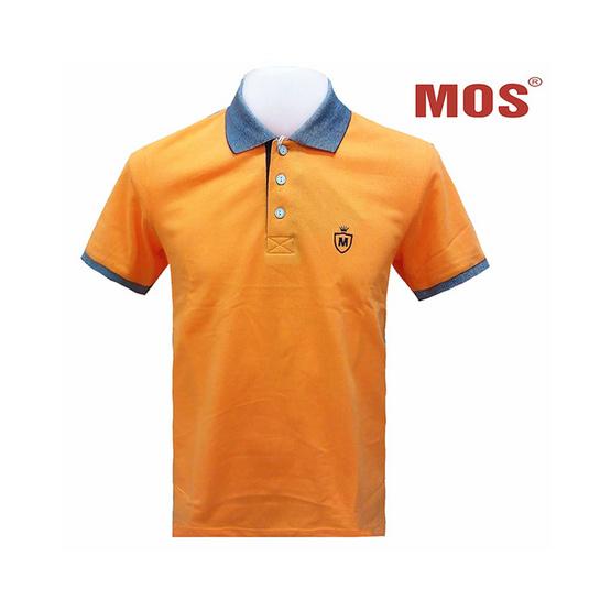 MOS HERITAGE POLO T-SHIRT เสื้อโปโลชาย รุ่น MMB-0217 (เหลืองส้ม)
