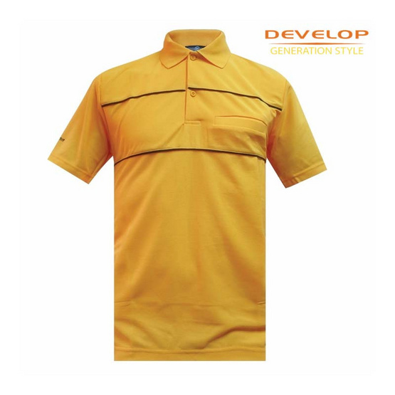 DEVELOP POLO T-SHIRT เสื้อโปโลชาย รุ่น DPB-1952 (เหลืองมะปราง)