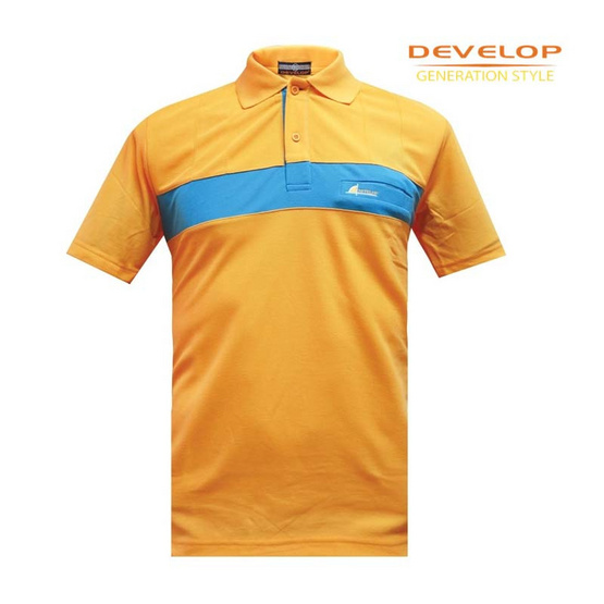 DEVELOP POLO T-SHIRT เสื้อโปโลชาย รุ่น DPB-2310 (เหลืองมะปราง)