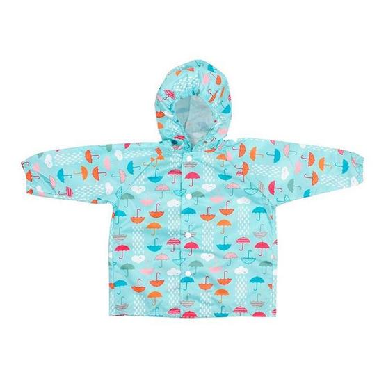 Bumkins เสื้อกันฝน สำหรับเด็ก 1-2 ขวบ สีฟ้า ลาย Rain Cloud
