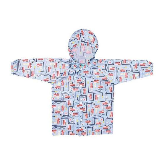 Bumkins เสื้อกันฝน สำหรับเด็ก 1-2 ขวบ สีฟ้า ลาย Fire Engine