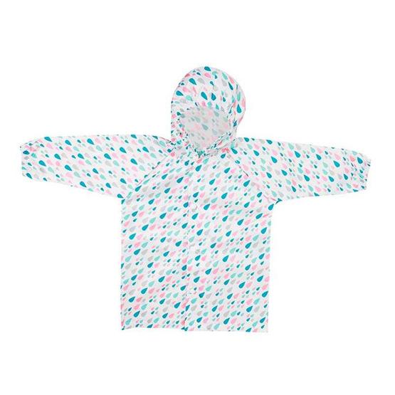 Bumkins เสื้อกันฝน สำหรับเด็ก 1-2 ขวบ สีฟ้า ลาย Raindrops