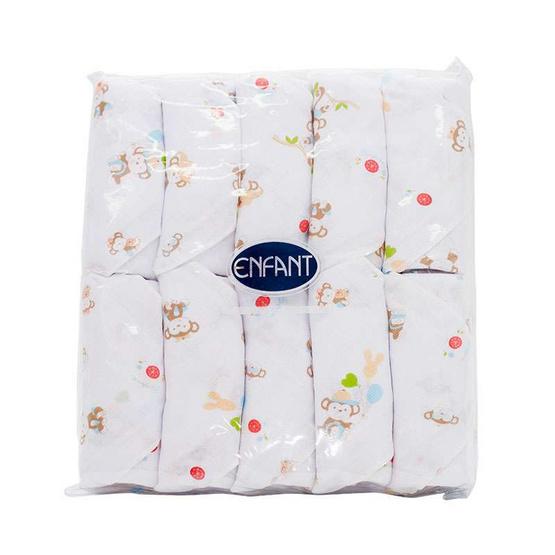 ENFANT ผ้าอ้อม พิมพ์ลาย สีชมพู PACK 10 ผืน