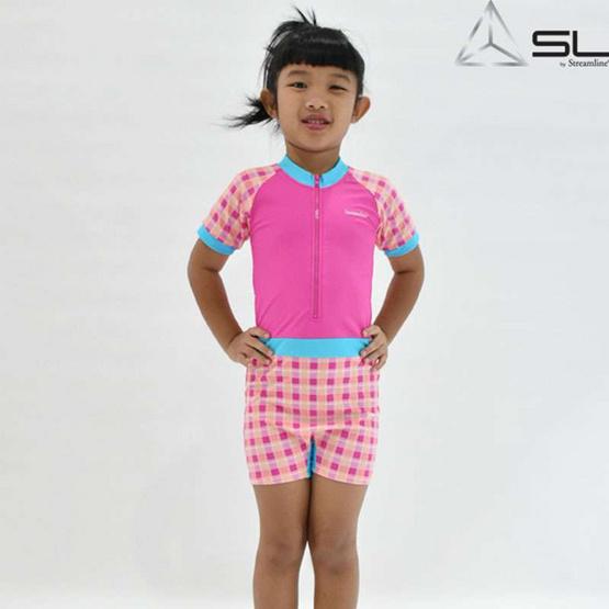 STREAMLINE วันพีช SUNSCREEN เสื้อแขนสั้น กางเกงขาสั้น สีชมพู