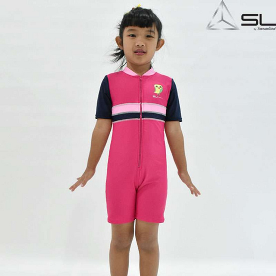 STREAMLINE KAMIN S COLLECTION  เสื้อแขนยาวกางเกงขาสั้น สีชมพู