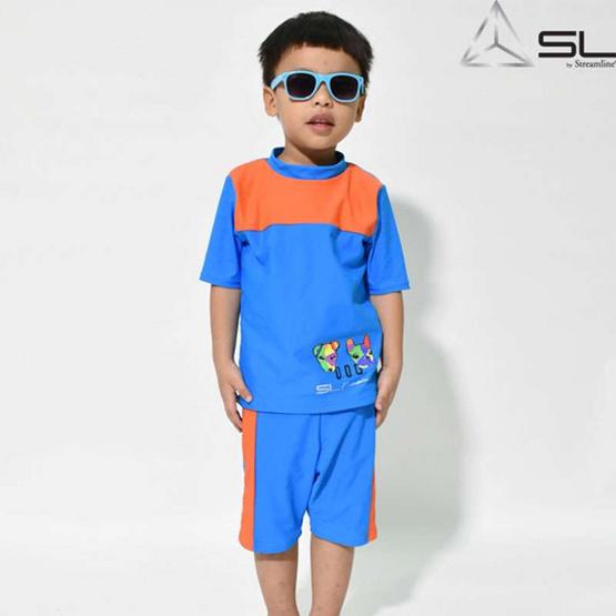 STREAMLINE KAMIN  S COLLECTION 2 ชิ้น เสื้อแขนสั้น กางเกงขาสั้น สีฟ้า