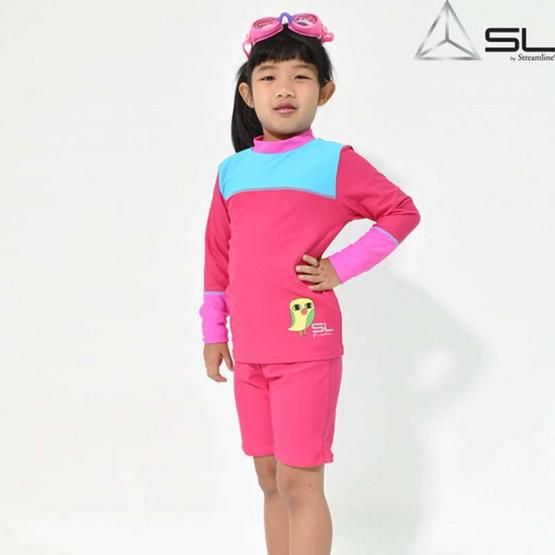 STREAMLINE KAMIN  S COLLECTION 2 ชิ้น เสื้อแขนยาวกางเกงขาสั้น สีชมพู