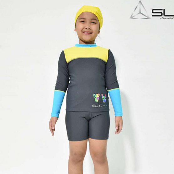 STREAMLINE KAMIN  S COLLECTION 2 ชิ้น เสื้อแขนยาวกางเกงขาสั้น สีเทา