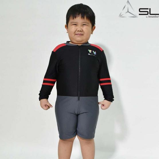 SL STREAMLINE KAMIN  S COLLECTION 1 ชิ้น เสื้อแขนยาวกางเกงขาสั้น สีดำ