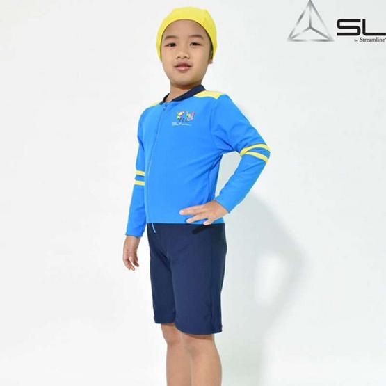 SL STREAMLINE KAMIN S COLLECTION 1 ชิ้น เสื้อแขนยาวกางเกงขาสั้น สีฟ้า