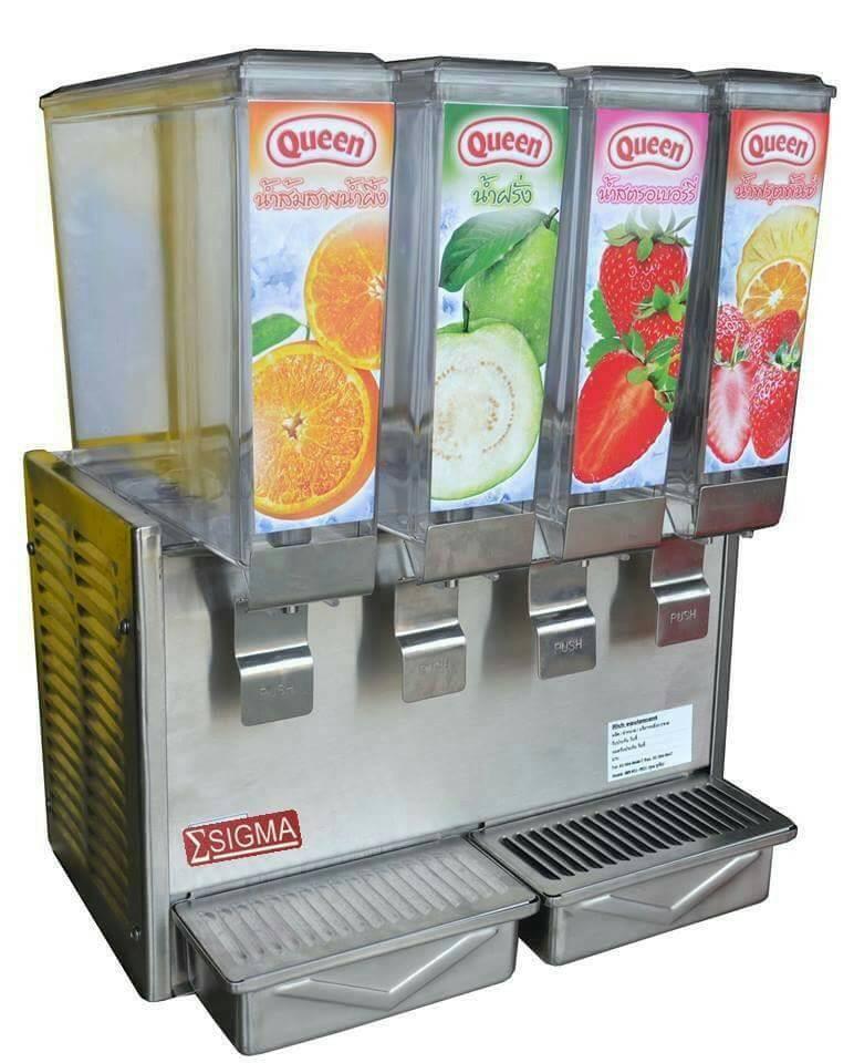 เครื่องจ่ายน้ำหวาน เครื่องกดน้ำหวาน ESIGMA เครื่องจ่ายน้ำผลไม้ Juice dispenser  โทร.0635409414
