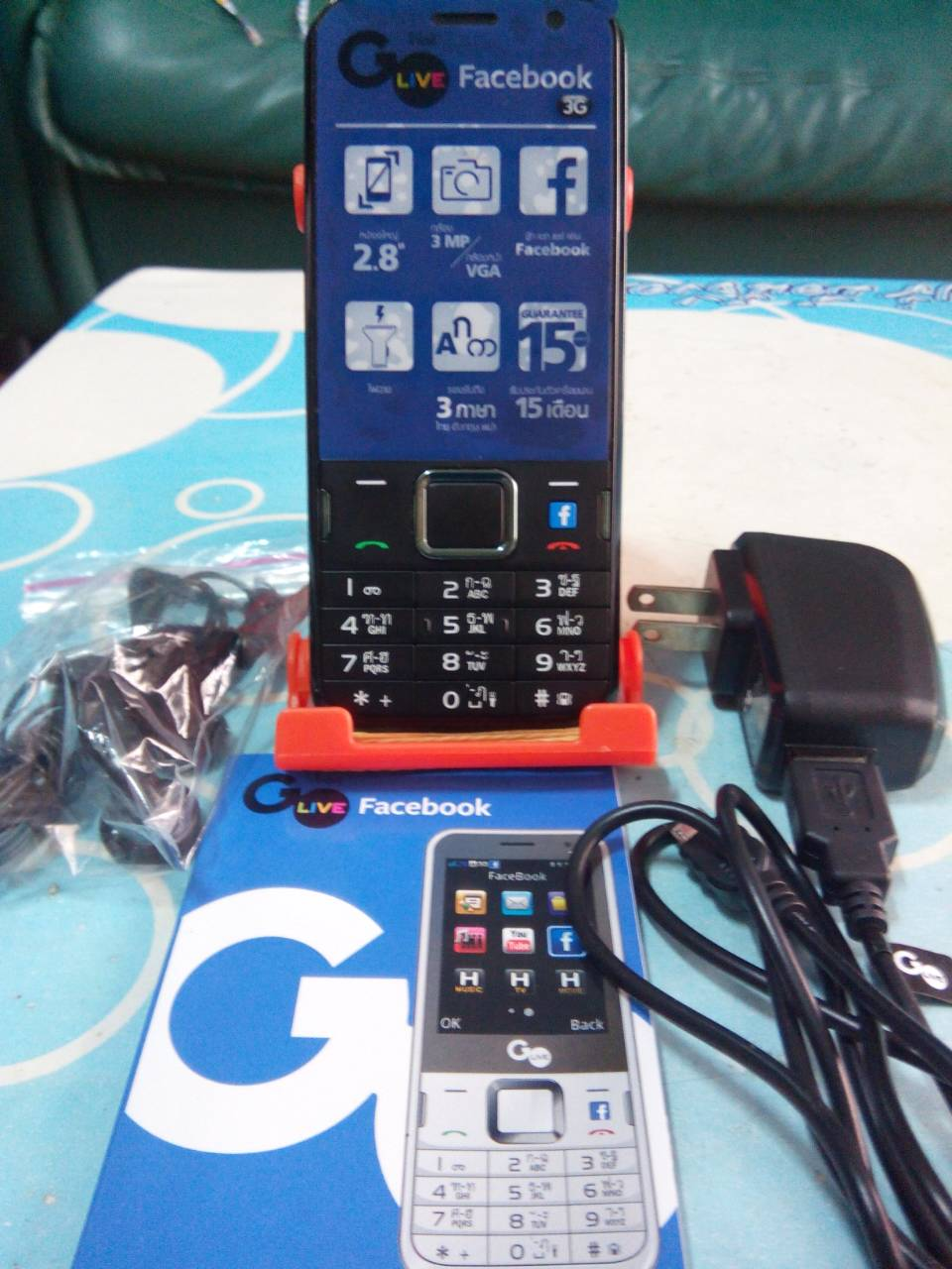 Go Live Facebook สภาพใหม่มาก รองรับ 3G พร้อมอุปกรณ์และคู่มือครบชุด