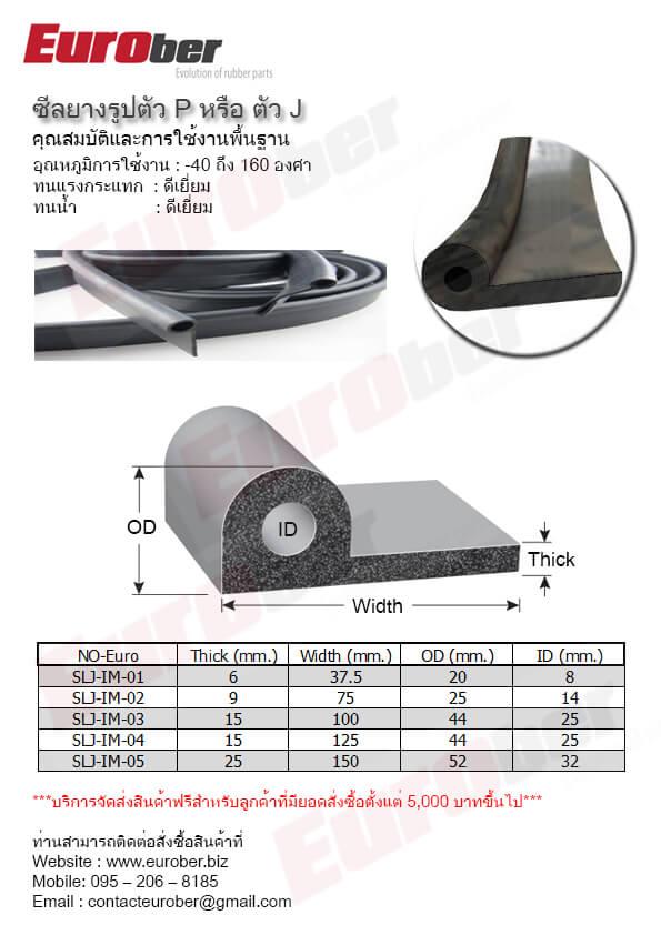 ซีลยางทนความร้อนสินค้า Product Heat Resistant Rubber Seals