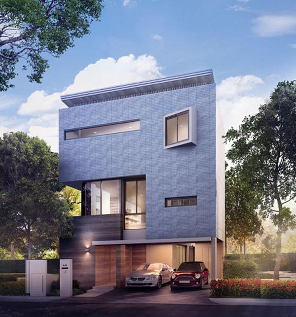 Luxury House For Sale - ขายบ้านเดี่ยวหรู 3 ชั้น สไตล์ L-Shape ใจกลางเมืองย่าน รัชดา ( New CBD ) ใกล้รถไฟฟ้าใต้ดิน เดินทางเชื่อมต่อสู่ใจกลางเมืองได้สะดวกมากๆ