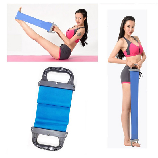 a bloom Pilates Band ยางยืดพิลาทิส พร้อมมือจับ Resistance Band with Handle สีน้ำเงิน