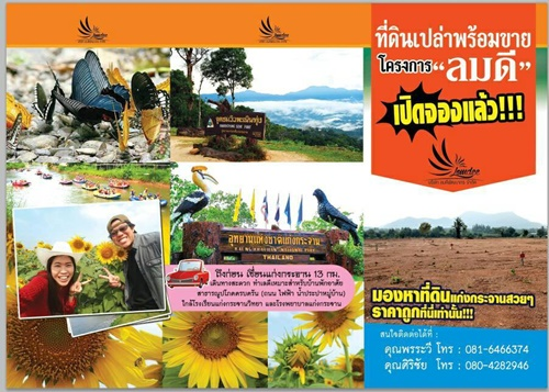 โครงการ ลมดี โครงการที่ดินจัดสรรพร้อมสาธารณูปโภค แก่งกระจาน จ.เพชรบุรี