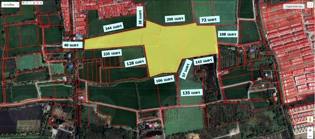 ขาย ที่ดิน 34-1-59.7 ไร่ เหมาะทำหมู่บ้าน ใกล้ ตลาดบางคูลัด เพียง 2 กม