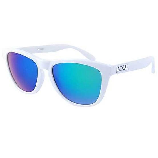 แว่นกันแดด Jackal รุ่น JS048 กรอบ WH / Green-Blue Mirror Lens