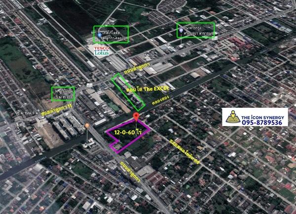 ขายที่ดิน 12-0-60 ไร่ ติดถนนซอยพหลโยธิน 64 หน้ากว้าง 86 เมตร ลึก 182 เมตร