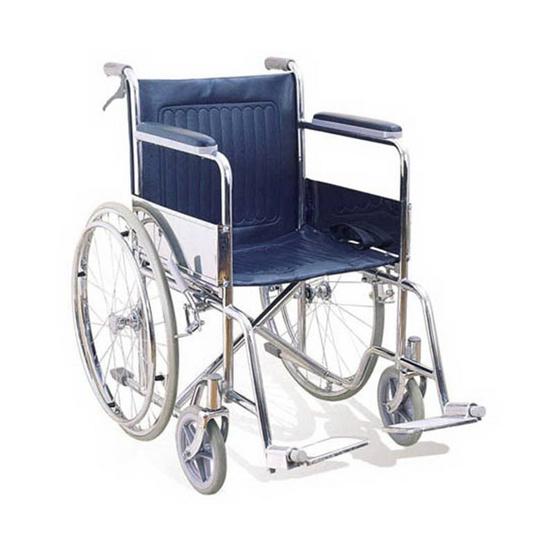 KTHealth รถเข็นผู้ป่วย พับได้ มีเบรคมือ รุ่นประหยัด KT905H