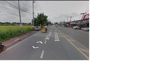 ขายที่ดิน 14-0-41  ไร่   ติดถนนวัดลาดปลาดุก (ถนน 4ช่องจราจร) เหมาะทำธุรกิจมากมาย