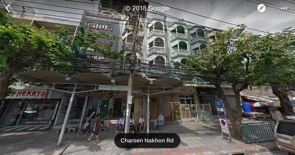 ขายอาคารพาณิชย์ 4 ชั้น + ดาดฟ้า ริมถนนเจริญนคร 28 เนื้อที่ 15 ตารางวา