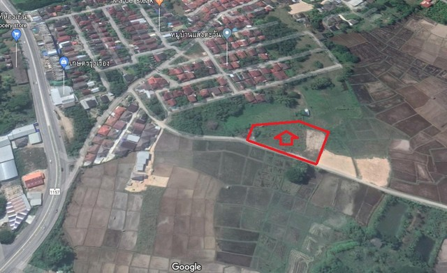 ขายที่ดิน 2ไร่ ถมแล้ว(แบ่งขาย/ขายทั้งแปลง)ใกล้ศูนย์สมุนไพรลำปาง บ.บ่อแฮ้ว อ.เมือง ลำปาง