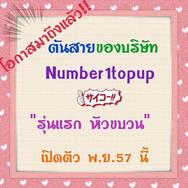 Number1Topup สร้างรายได้ 170 บาท ต่อวัน สมัครเพียง 390 บาท