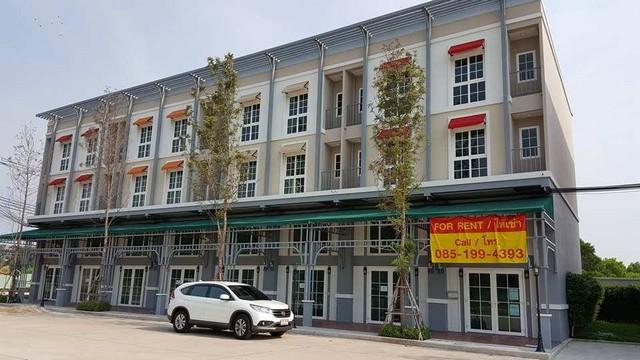 ให้เช่าอาคารพาณิชย์ใหม่ 3.5 ชั้น ห้องมุม ตกแต่งแล้ว หน้าเอแบคบางนา (near ABAC Bangna)