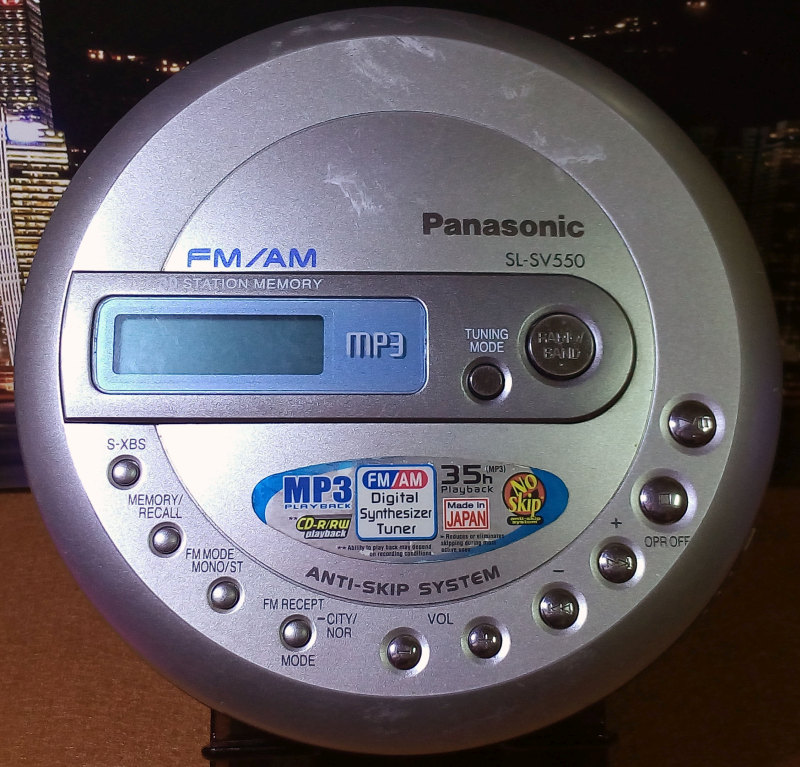 CD Walkman Panasonic SL-SV550 มือสอง