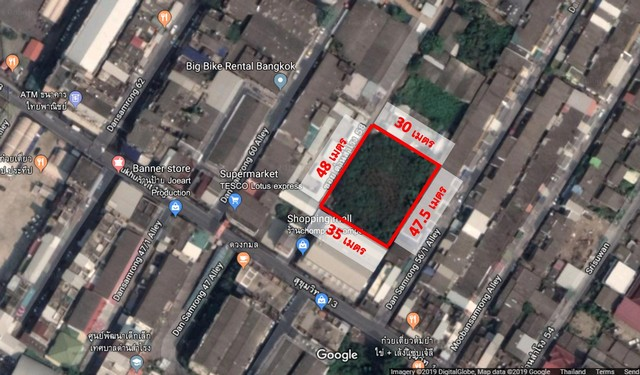 ขายที่ดิน 412 วา ซอย วัดด่านสำโรง 58 ห่างปากซอยแค่ช่วงตึกเดียว ปากซอยมี 7-11