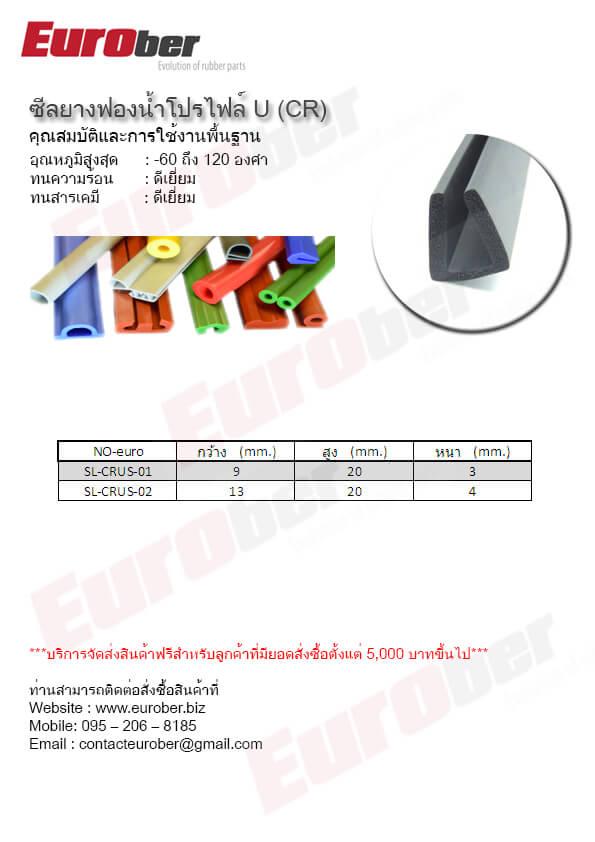 ยางซีลกันลามไฟ ตามแบบ Profile Flame Retardant Resistant Seals Rubber UL94