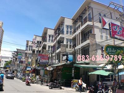 ขาย ตึกแถว2คูหา พัทยาสาย3 พื้นที่ 37ตรว ซอยเล่งกี่ ห้องมุม ค้าขายรวย