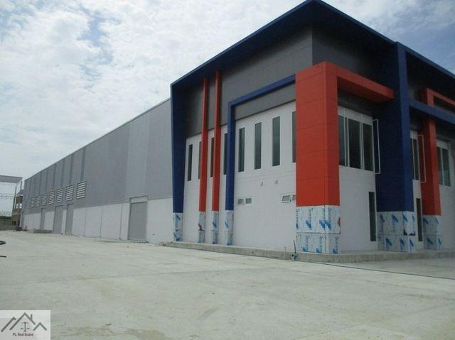 ให้เช่าโรงงานสร้างใหม่พร้อมใบ รง4 บางนา กม.19 (คลองส่งน้ำสุวรรณภูมิ) เนื้อที่ 3 ไร่กว่า 6150 ตรม.