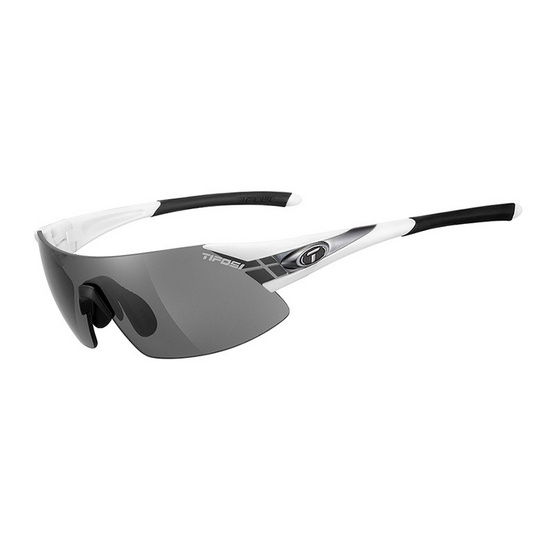 Tifosi แว่นกันแดด รุ่น PODIUM XC White/Gunmetal (Smoke/AC Red/Clear)
