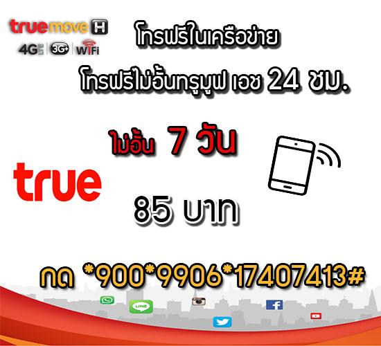 โปรโทรฟรีทรูมูฟ โปรโทรฟรีในเครือข่าย