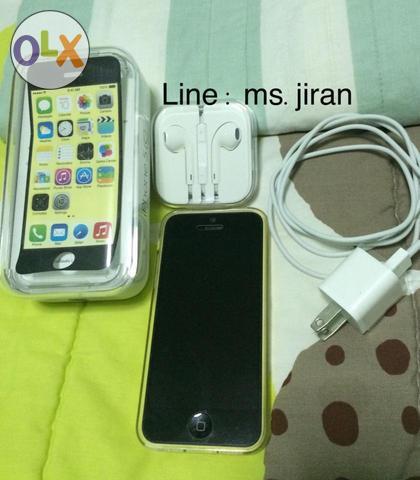 Used iphone 5c สีเหลือง 16 GB เครื่องศูนย์ true คะ