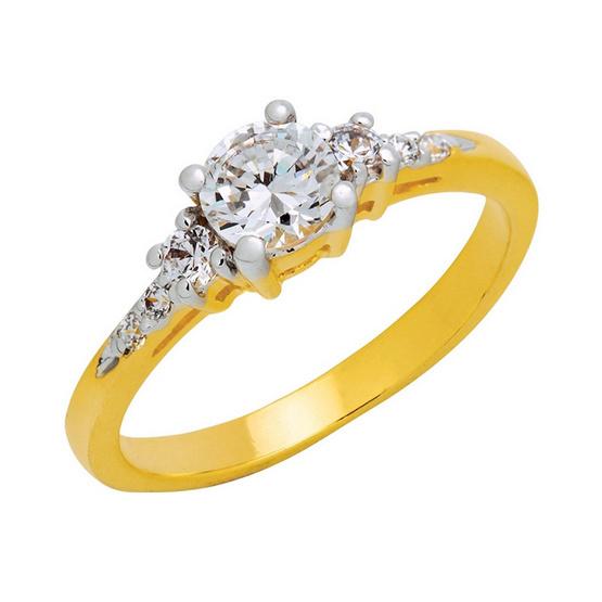 Trendy Diamond แหวน Wedding ring หุ้มทองแท้ Size 56