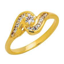 Trendy Diamond แหวนก้นหอย หุ้มทองแท้ ไซส์ 56