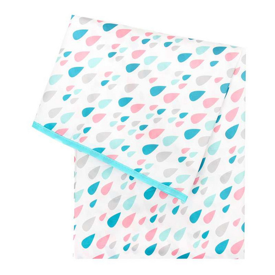 Bumkins ผ้าปูรองอเนกประสงค์ รุ่น Splat Mat ลาย Raindrop สีฟ้า