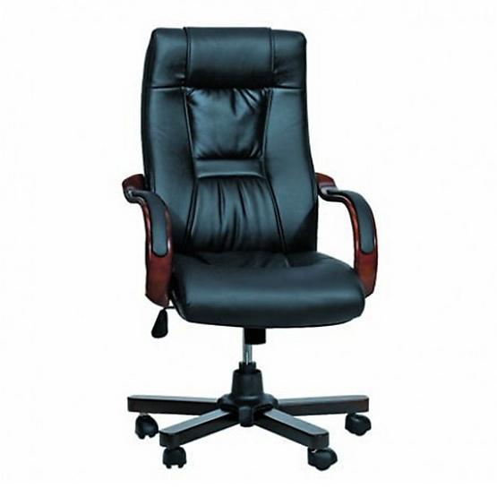 AS Furniture เก้าอี้ผู้บริหาร หนังพรีม่า (PRIMA) สีดำ