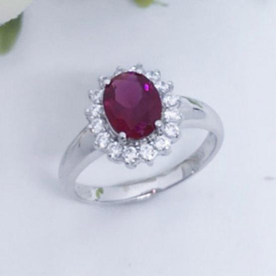 Winnie Jewelry แหวนพลอยแดง (หญิง)