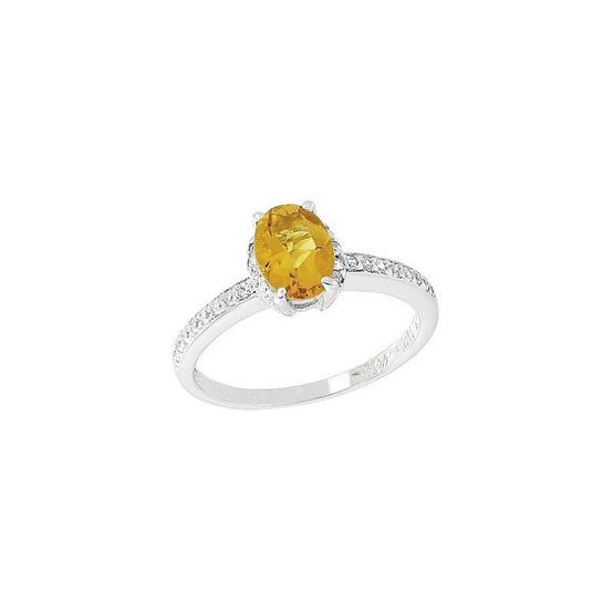 Trendy Diamond แหวนพลอยซิทรินสีเหลือง รุ่น TSR156-CT